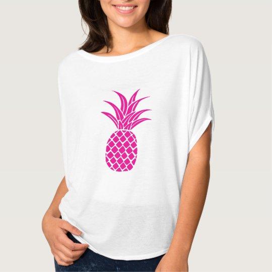 Bright Pink Pineapple Flowy Shirt