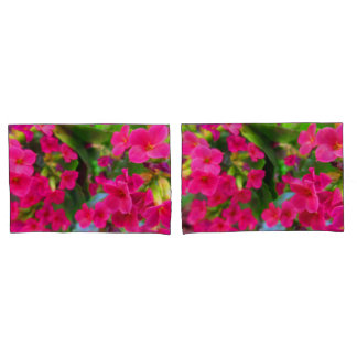 Bright Pink Pretty Kalanchoe Flowers Pillowcase