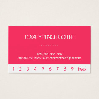Bright Pink Punch Loyalty Coffee Card