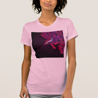 Bright Pink, Purple, and Blue Beta Fish T-Shirt