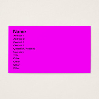 Bright Pink Purple Business Card