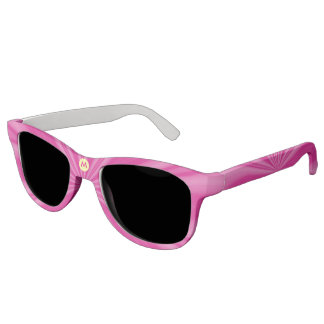 Bright Pink Radiating Streaks with Initial Sunglasses