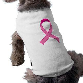 Bright Pink Ribbon Tshirt Gift Sleeveless Dog Shirt