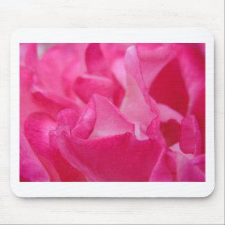 Bright Pink Rose Petals Mouse Pad
