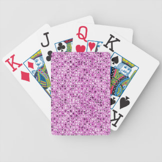 Bright Pink Sequin Effect Bicycle Poker Deck