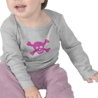 Bright Pink Skull & Crossbones Tshirts