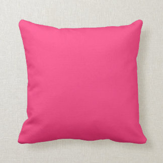 Bright Pink Solid Accent Throw Pillows