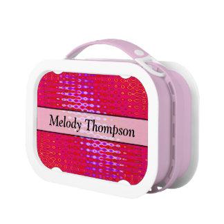 Bright Pink texture design Lunchbox