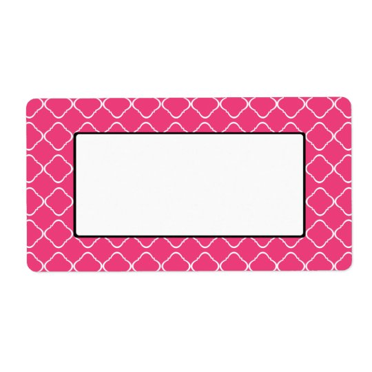 Bright Pink Trellis Label/Tag