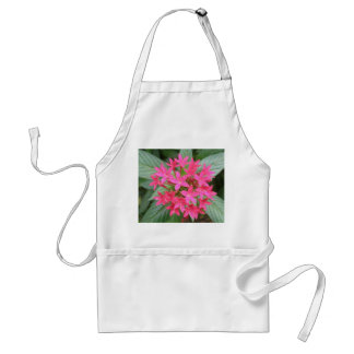 Bright Pink Tropical Flowers Apron