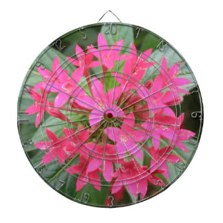 Bright Pink Tropical Flowers Dart Board