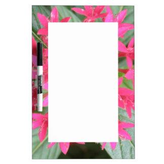 Bright Pink Tropical Flowers Memo Board