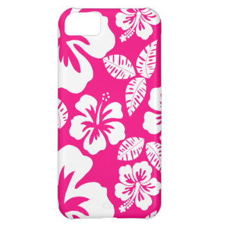 Bright Pink Tropical Hibiscus Flowers iPhone 5C Cases