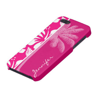 Bright Pink Tropical Hibiscus iPhone 5 Case