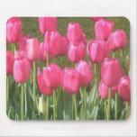 Bright Pink Tulip Garden Mousepad