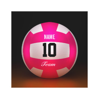 Bright Pink Volleyball Team Canvas Prints