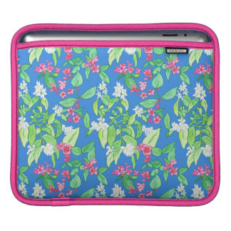 Bright Pink, White Floral, Sky Blue iPad Sleeve, Sleeve For iPads