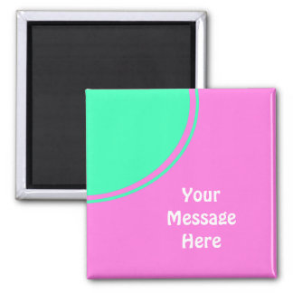 bright pink with green circle magnet