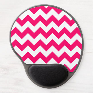 Bright Pink Zigzag Pattern Gel Mouse Mat