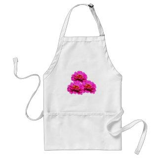 Bright Pink Zinnia Flowers Standard Apron