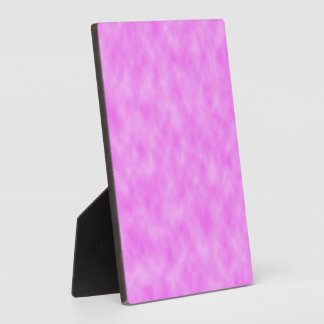 Bright Pinkish Purple Cloudy Pattern Design Plaque