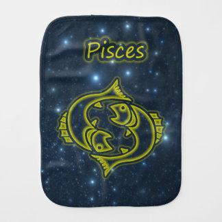 Bright Pisces Burp Cloth