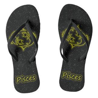 Bright Pisces Flip Flops
