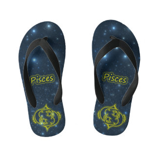 Bright Pisces Kid's Flip Flops