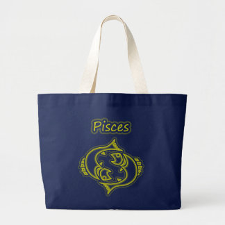 Bright Pisces Large Tote Bag