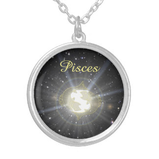 Bright Pisces Silver Plated Necklace