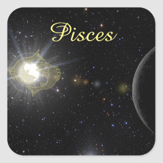 Bright Pisces Square Sticker