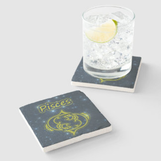Bright Pisces Stone Coaster