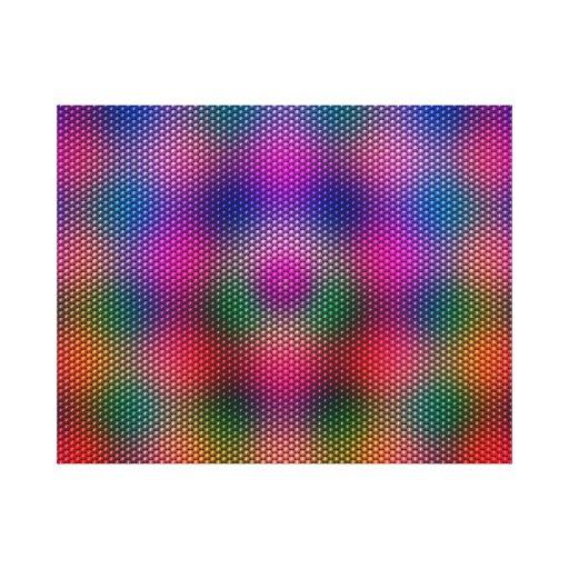 Bright Plaid Canvas Print