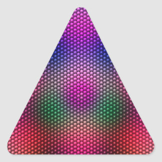 Bright Plaid Triangle Stickers