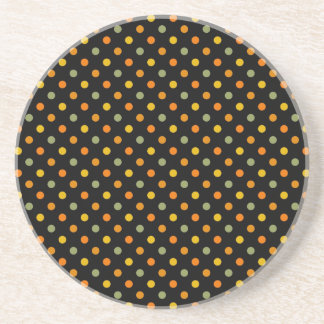 Bright Polka Dot Pattern Coaster