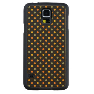 Bright Polka Dot Pattern Maple Galaxy S5 Slim Case