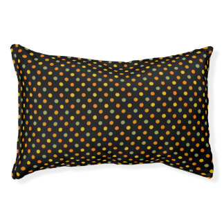 Bright Polka Dot Pattern Pet Bed