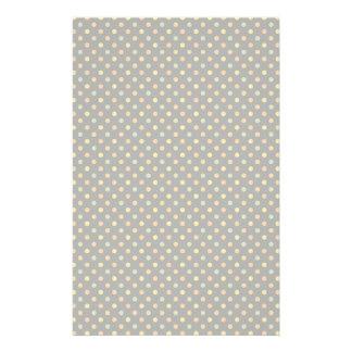 Bright Polka Dot Pattern Stationery