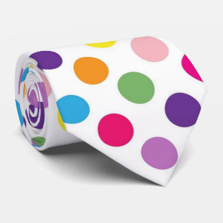 Bright polka dot pattern tie