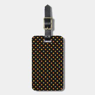 Bright Polka Dot Pattern Travel Bag Tags