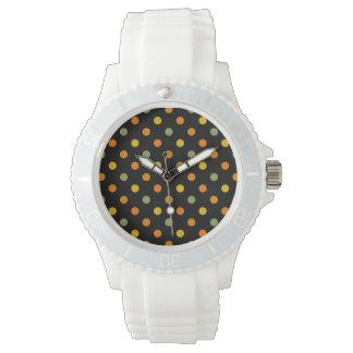 Bright Polka Dot Pattern Wristwatches