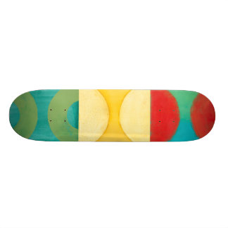 Bright Pop Art with Circles and Squares Custom Skateboard