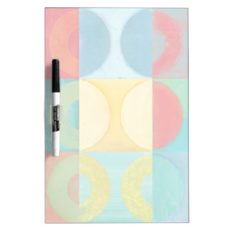 Bright Pop Art with Circles and Squares Dry Erase Board