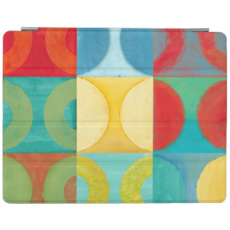 Bright Pop Art with Circles and Squares iPad Cover
