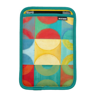 Bright Pop Art with Circles and Squares iPad Mini Sleeve