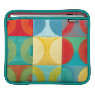 Bright Pop Art with Circles and Squares iPad Sleeves