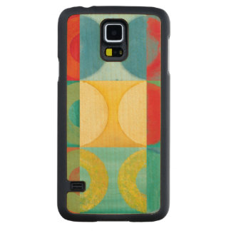 Bright Pop Art with Circles and Squares Maple Galaxy S5 Case
