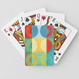 Bright Pop Art with Circles and Squares Playing Cards