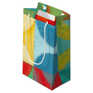 Bright Pop Art with Circles and Squares Small Gift Bag