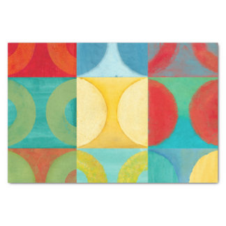 Bright Pop Art with Circles and Squares Tissue Paper